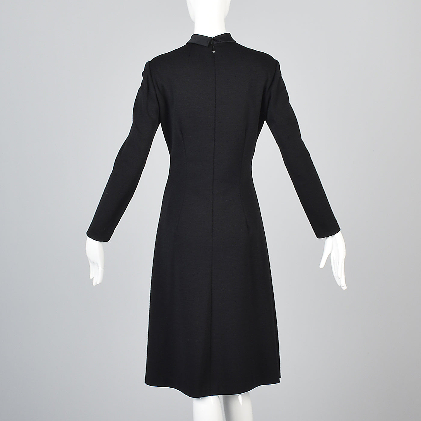 Adele Simpson Little Black Dress with Keyhole Bust & Satin Bow