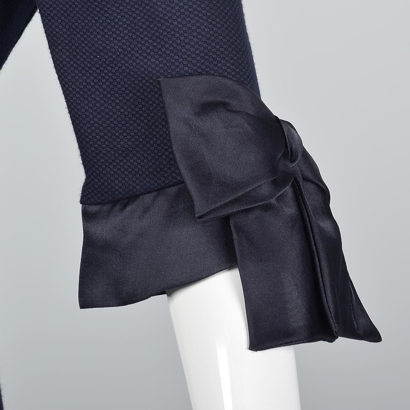 Scaasi Navy Blue Summer Skirt Suit