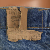 1970s Mens Distressed Levi's Jeans