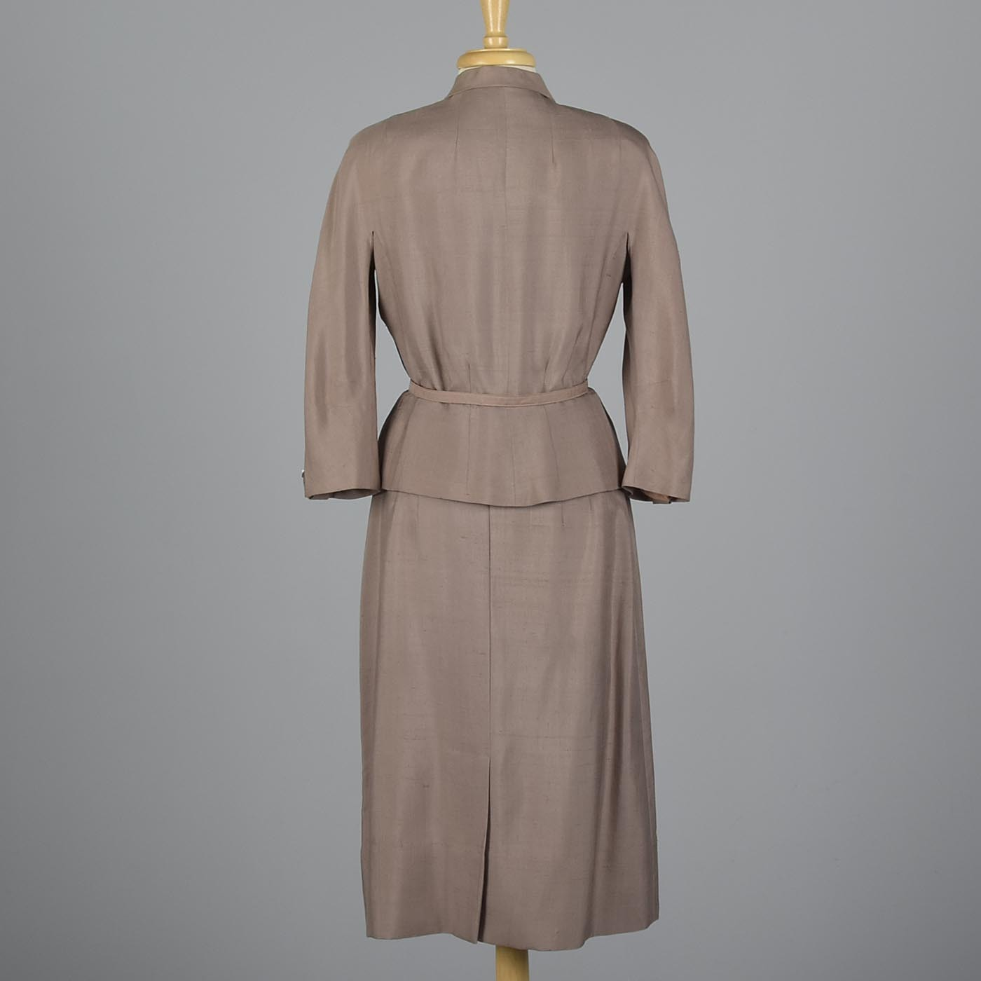 1950s Silk Skirt Suit with Beaded Detail