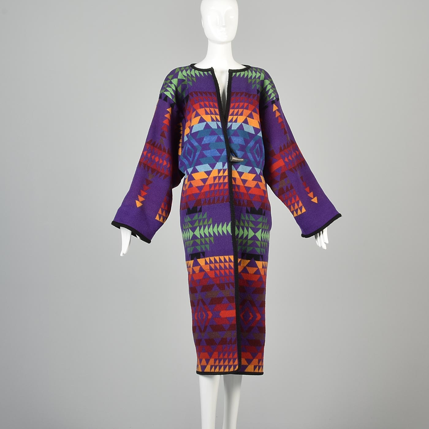 1970s Pendleton Beaver State Colorful Blanket Coat