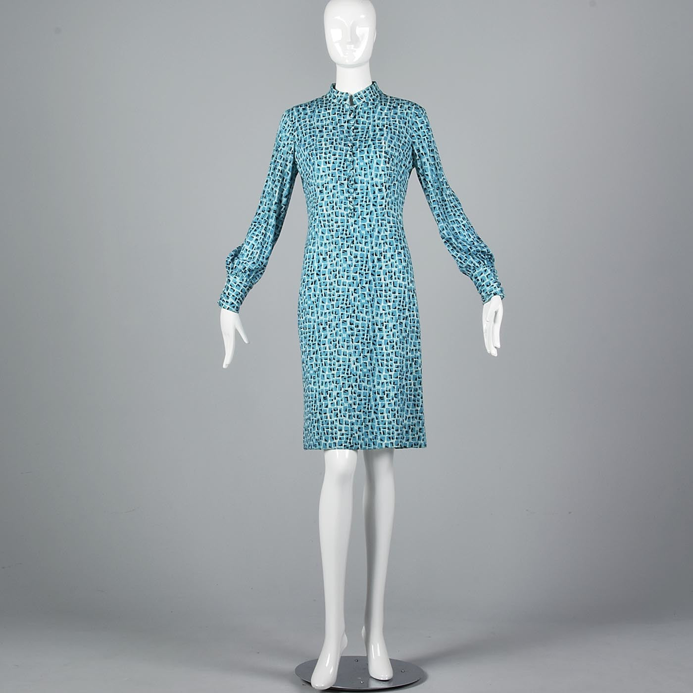 1960s Via Veneto Couture Boutique Wool Knit Dress