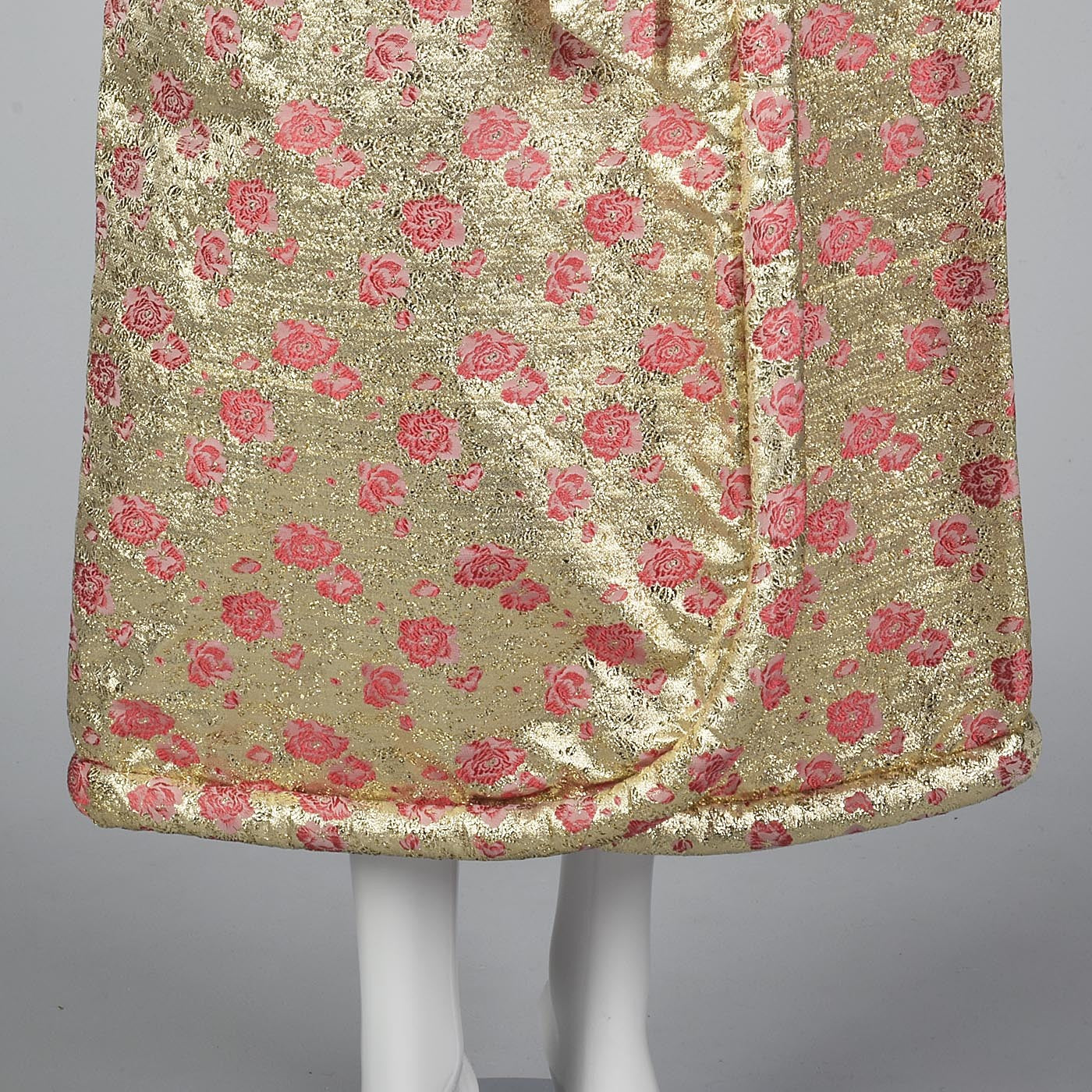 Incredible 1960s Gold Lamé Dressing Gown