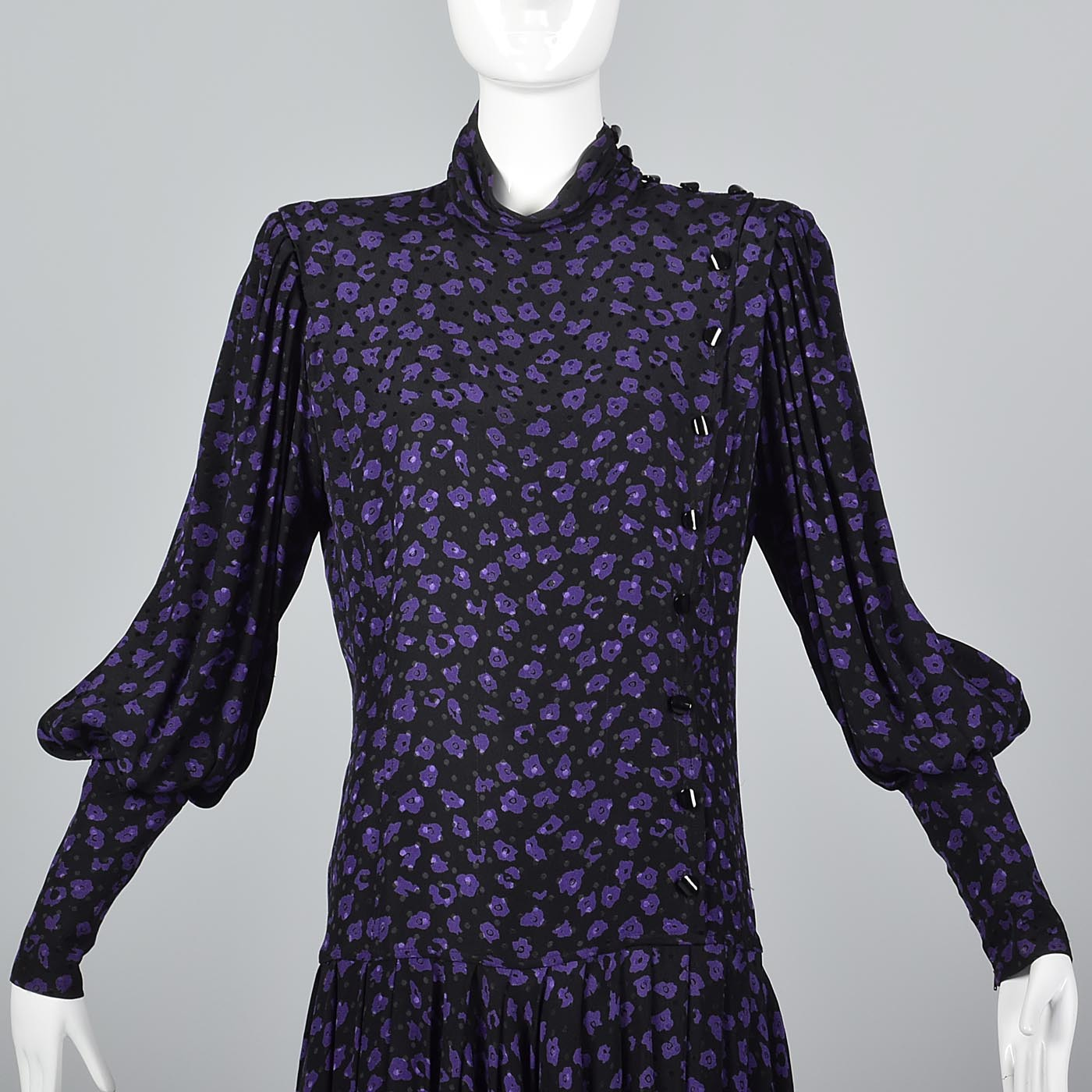 1980s Emmanuel Ungaro  Solo Donna Drop Waist Dress