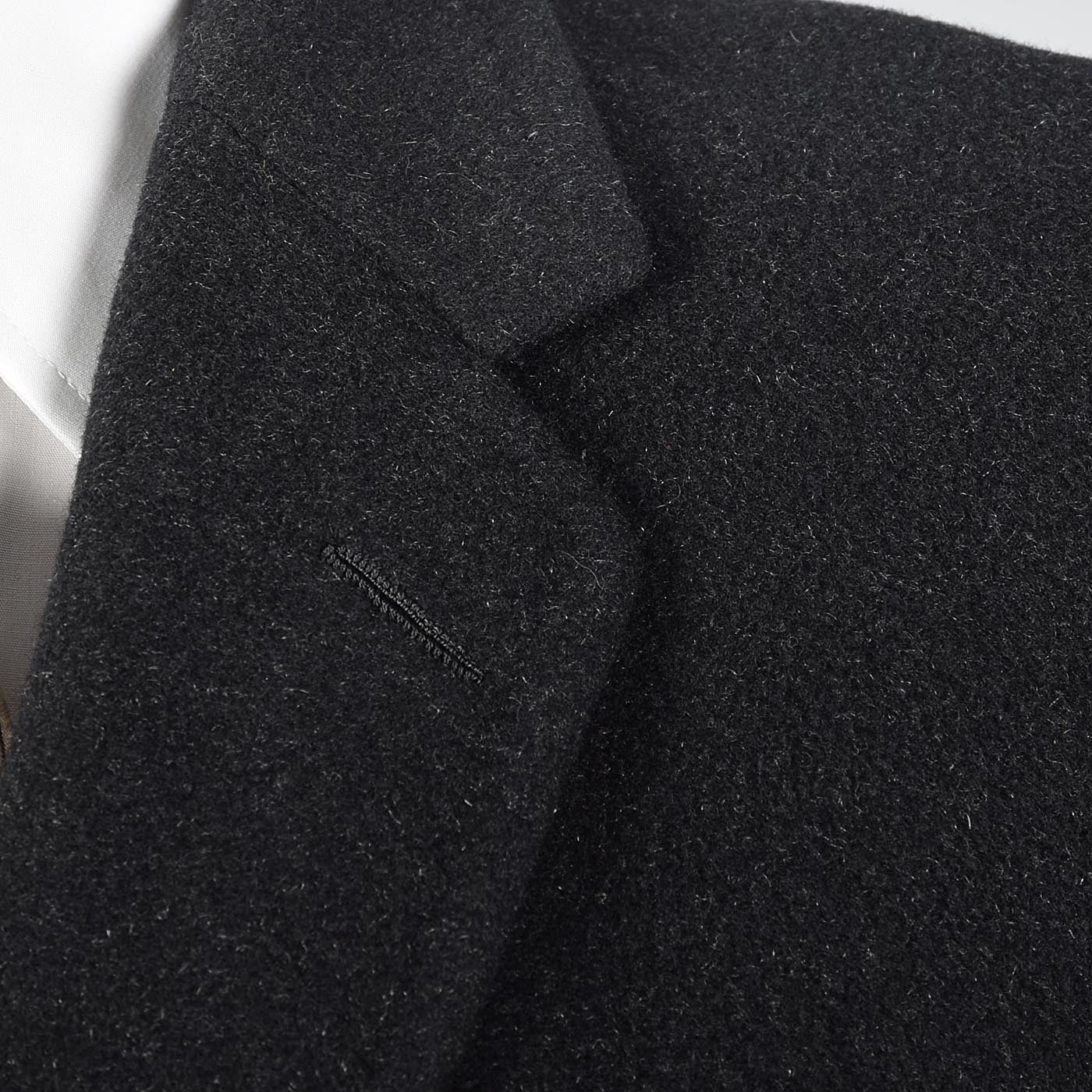 1970s Men's Classic Black Cashmere Coat