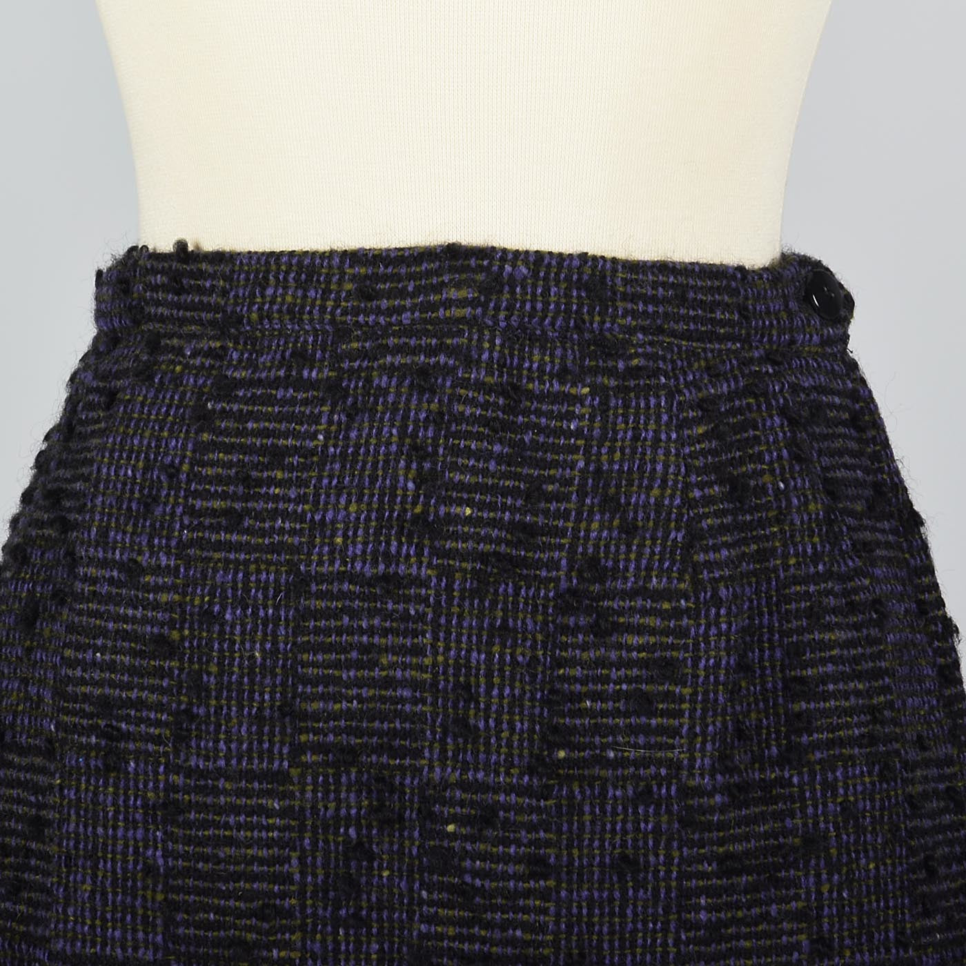 1960s Purple Tweed Top, Skirt, and Jacket Set