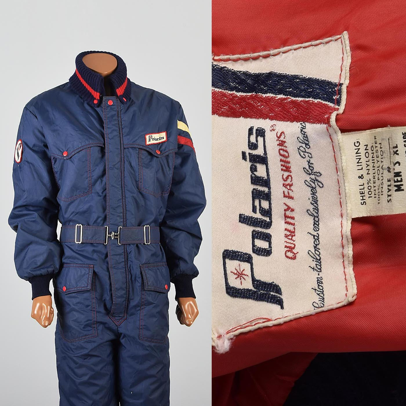 1970s Men's Polaris Snowmobile Snow Suit