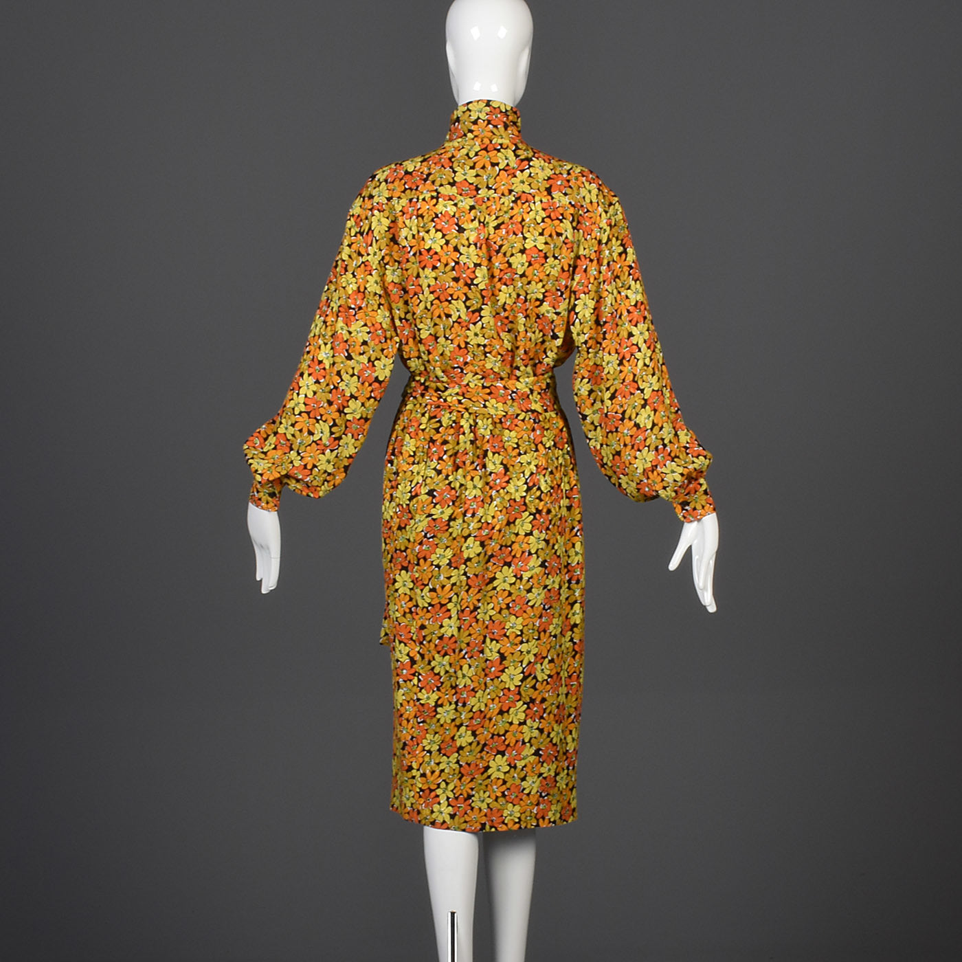 Yves Saint Laurent Rive Gauche Silk Separates in a Daisy Print