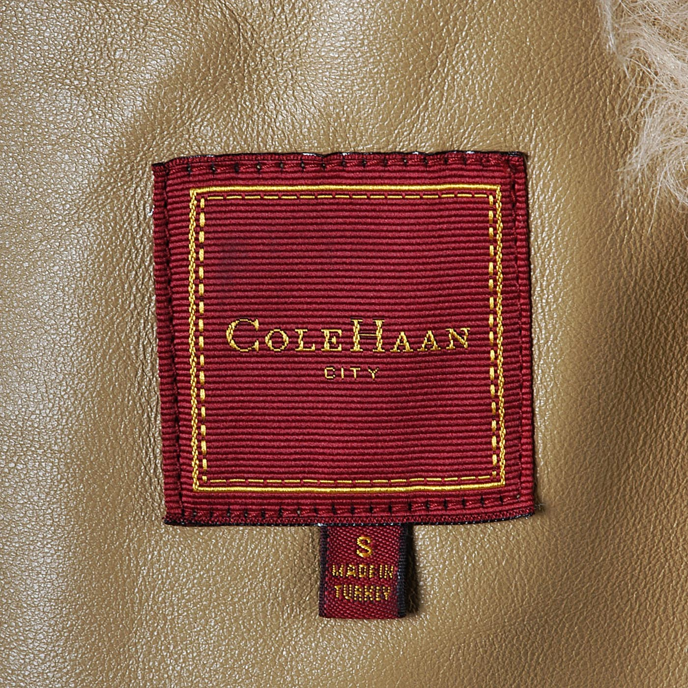Bohemian Cole Haan Leather & Shearling Coat