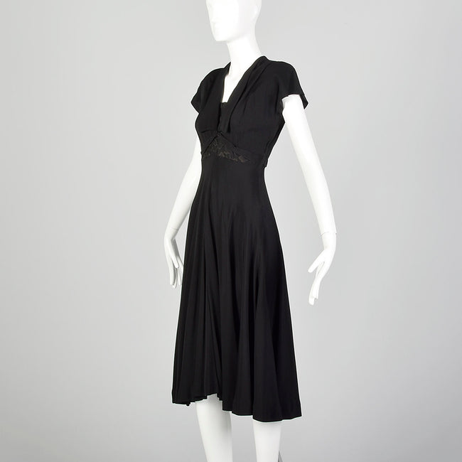 Small 1940s Black Dress