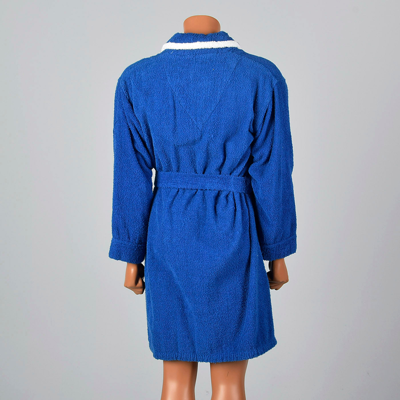 1960s Mens Blue Terry Cloth Robe