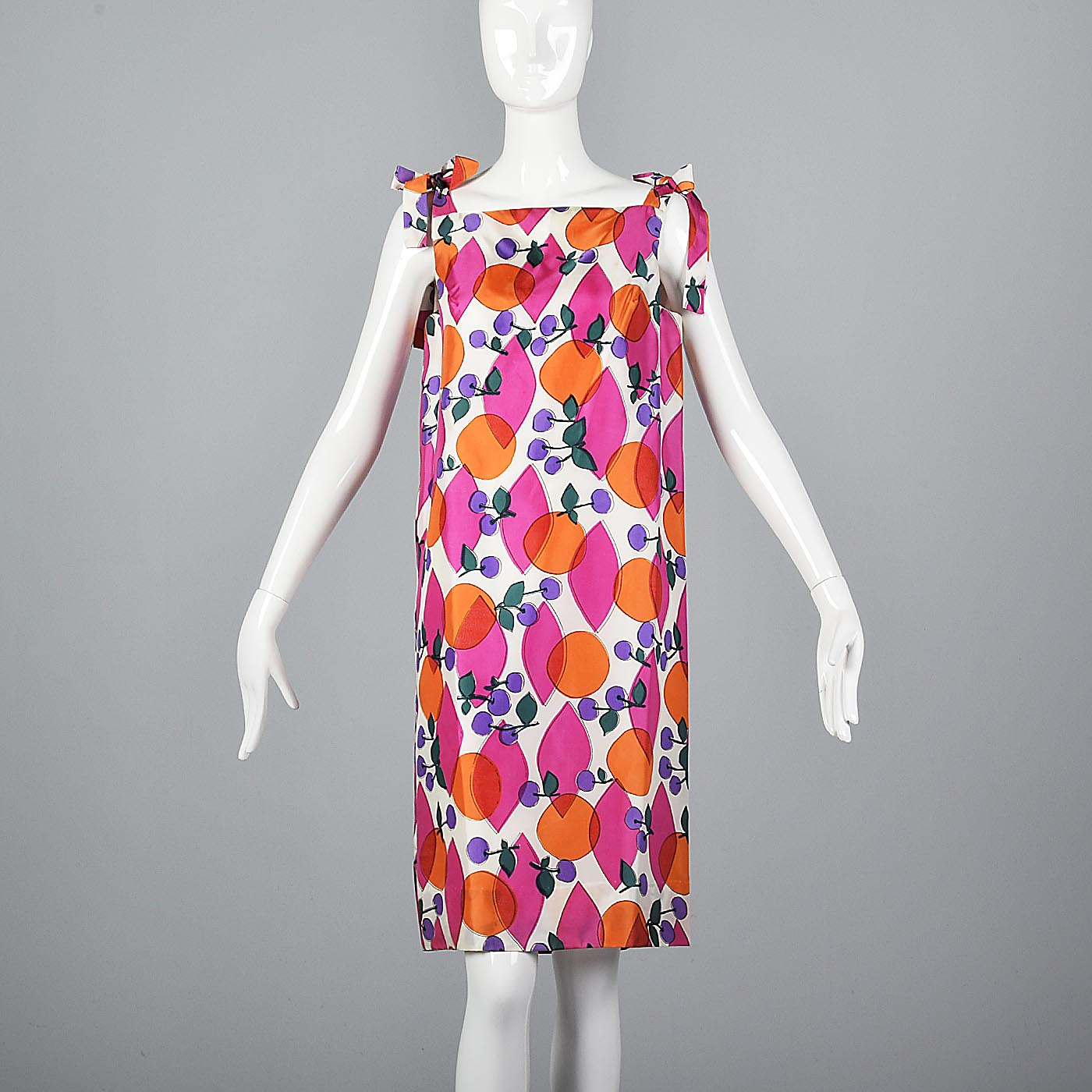 1960s Novelty Print Fruit Dress