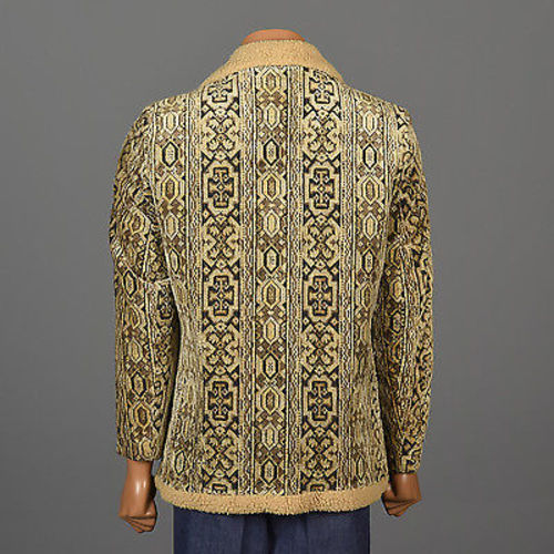 1970s Men's Bohemian Tapestry Carpet Coat