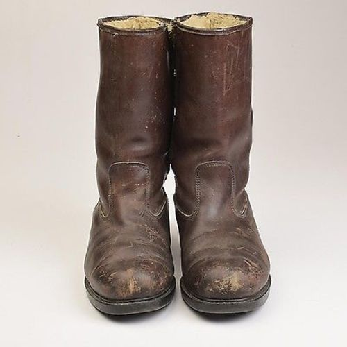 1950s Mens Wolverine Brown Leather Work Boots