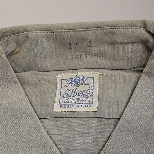 1950s Mens Deadstock Cotton Poplin Work Shirt