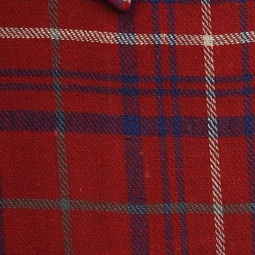 1940s Mens Deadstock Red and Blue Plaid Shirt