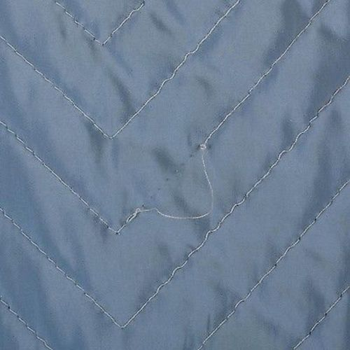 1950s Baby Blue Quilted Full Circle Skirt