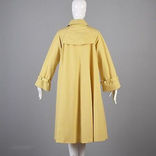 1980s Diane Von Furstenberg Yellow Swing Coat with Belt