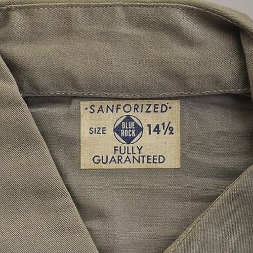 1940s Mens Deadstock Gray Sanforized Work Shirt