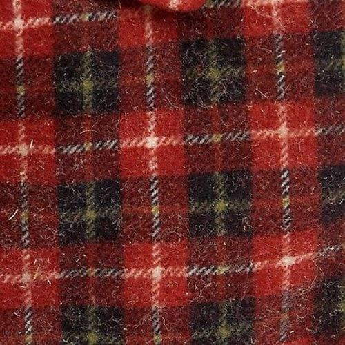 1950s Mens Deadstock Red Plaid Flannel Shirt