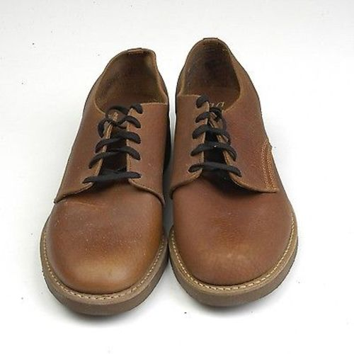1960s Mens Deadstock Brown Leather Oxford Shoes