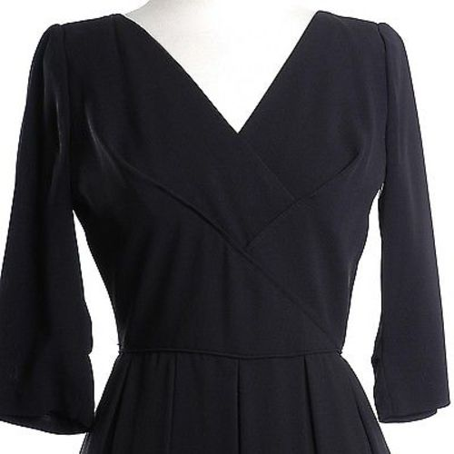 1950s Little Black Dress with Shelf Bust