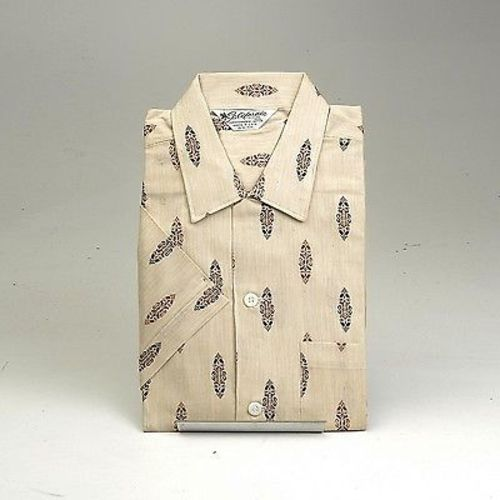 1950s Mens Deadstock Shirt with Loop Collar