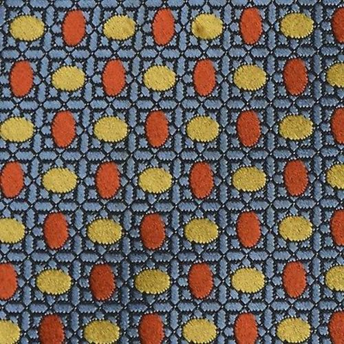 1960s Blue Orange Yellow Geometric Necktie