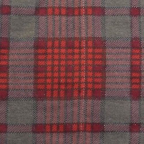 1960s Mens Deadstock Flannel Robe in Red and Gray Plaid
