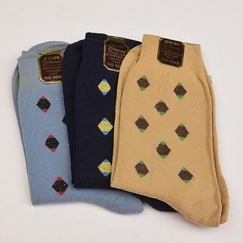 1940s Mens Deadstock Set of Six Pairs of Socks