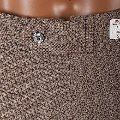 Size 36 Mens NOS VTG 60s Mod Tan Khaki Cotton Knit Mini Short Shorts High Rise