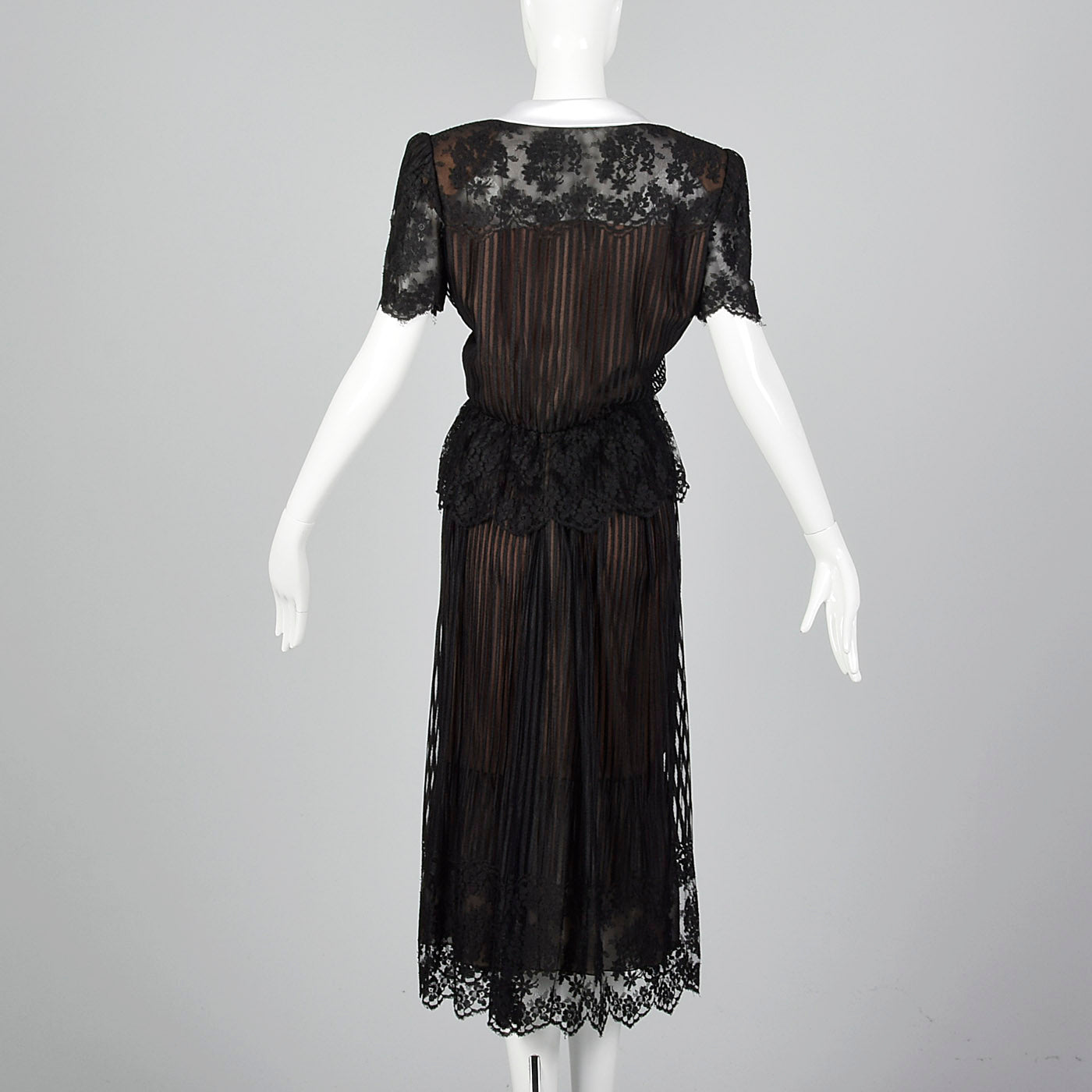 1980s Mignon Black Lace Separates