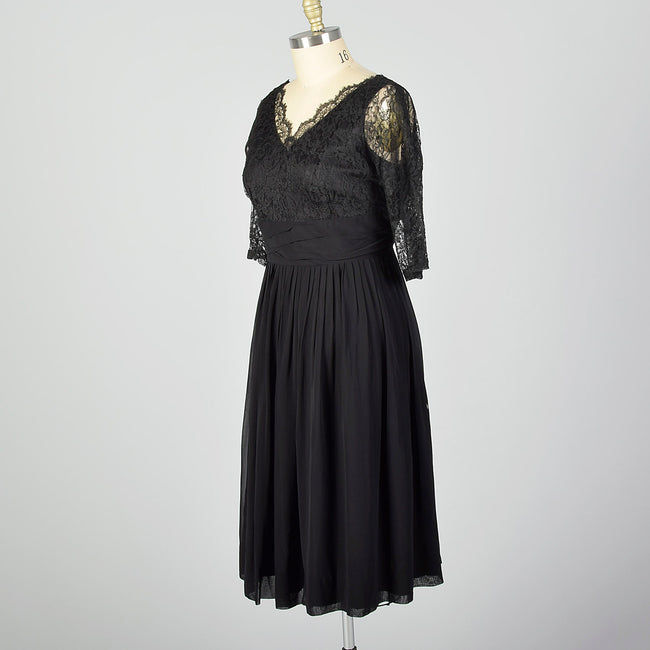 XXL 1950s Lace and Chiffon Dress