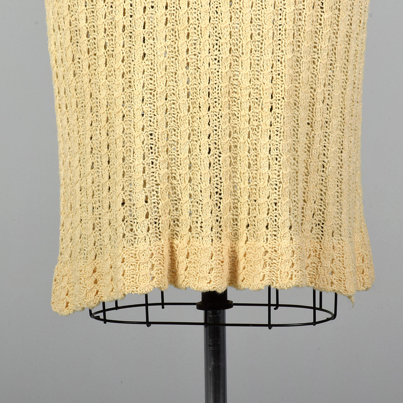 1920s Cream Cable Knit Dress
