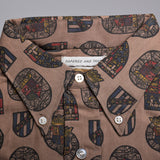 1950s Mens Deadstock Shirt with Novelty Stained Glass Print