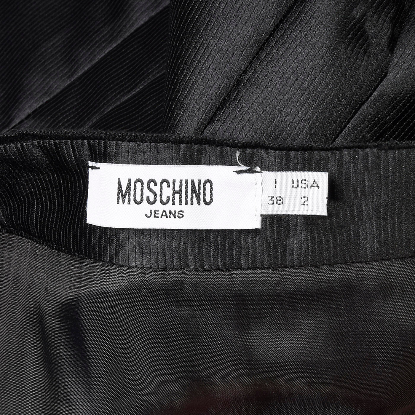 2010s Moschino Jeans Black Bubble Dress