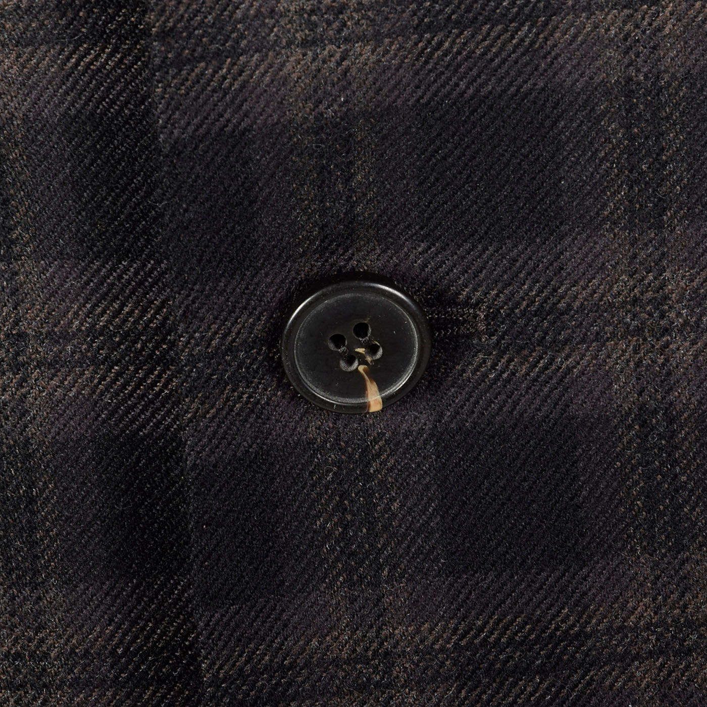 2000s Zegna Z Charcoal and Black Plaid Jacket