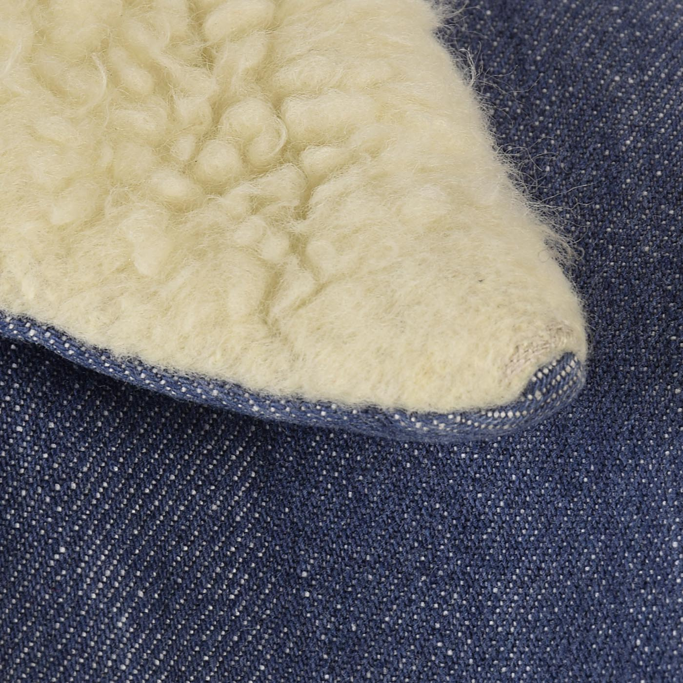 Mens 1960s Jean Jacket Faux Shearling Lining