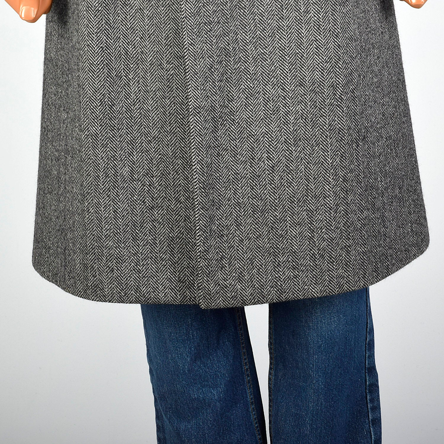 1970s Aquascutum Wool Tweed Gray Coat