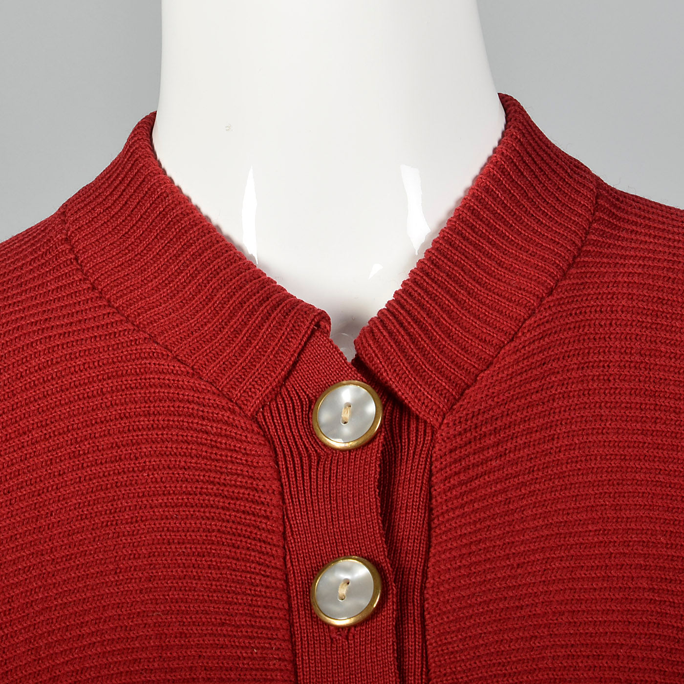 1950s Dark Red Cardigan with Dolman Sleeves