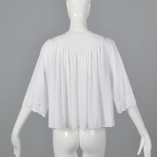 1960s White Bed Jacket