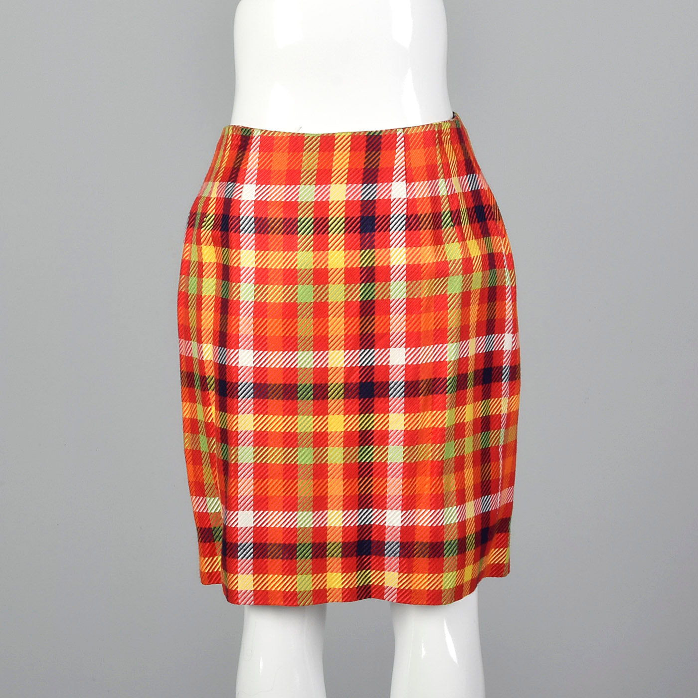 1990s Emanuel Ungaro Plaid Wrap Skirt