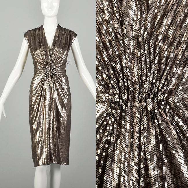 Medium Tadashi Shoji Sequin Dress Sexy Sleeveless Cocktail Party