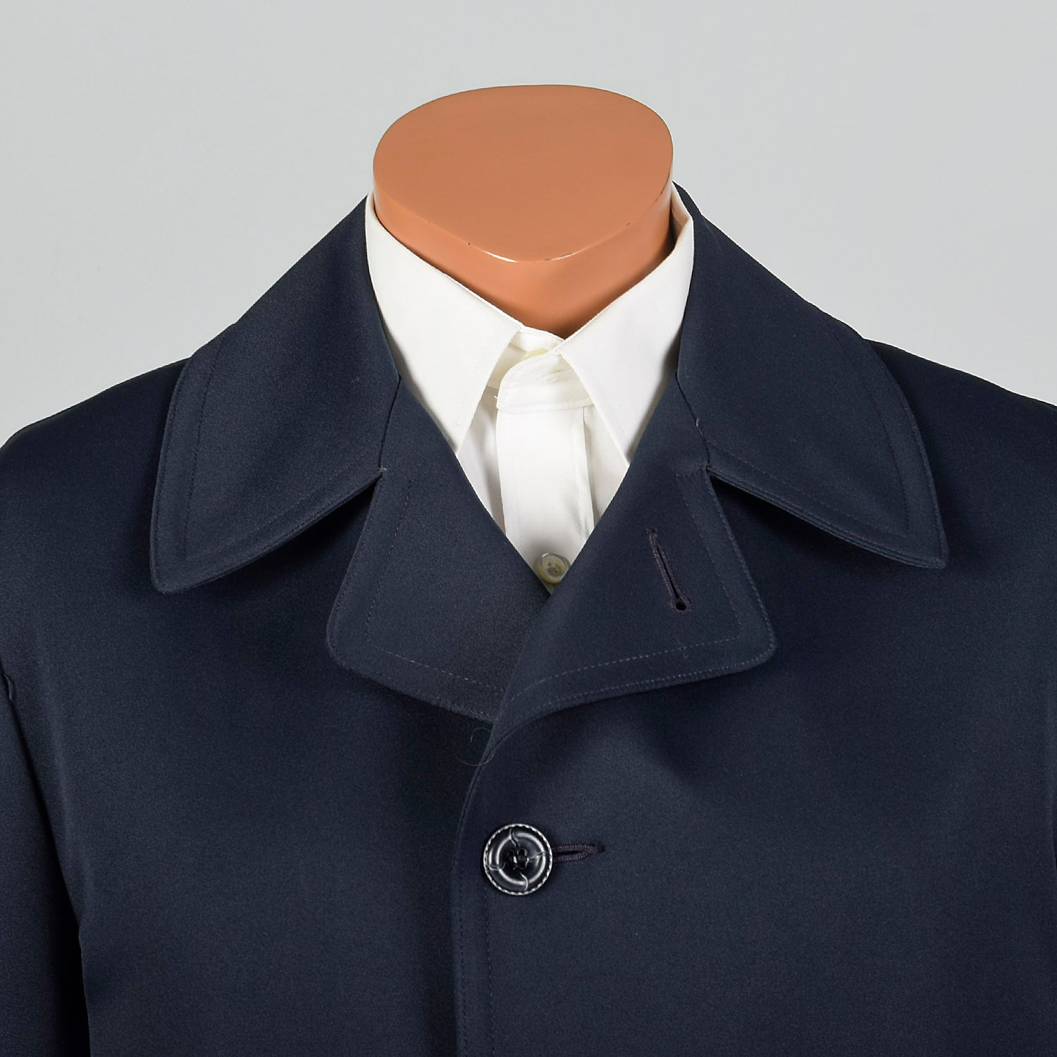 1970s Navy Overcoat with Removable Liner