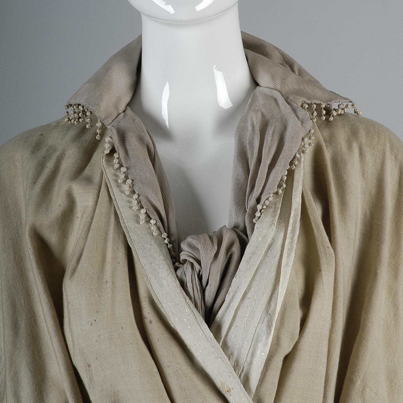 Edwardian Walking Coat with Pleated Back and Wide Sleeves