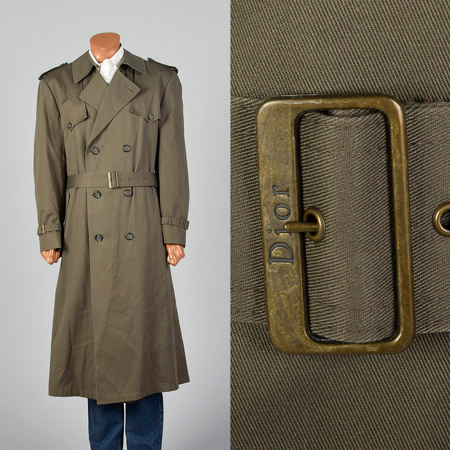 1970s Christian Dior Dark Gray Overcoat