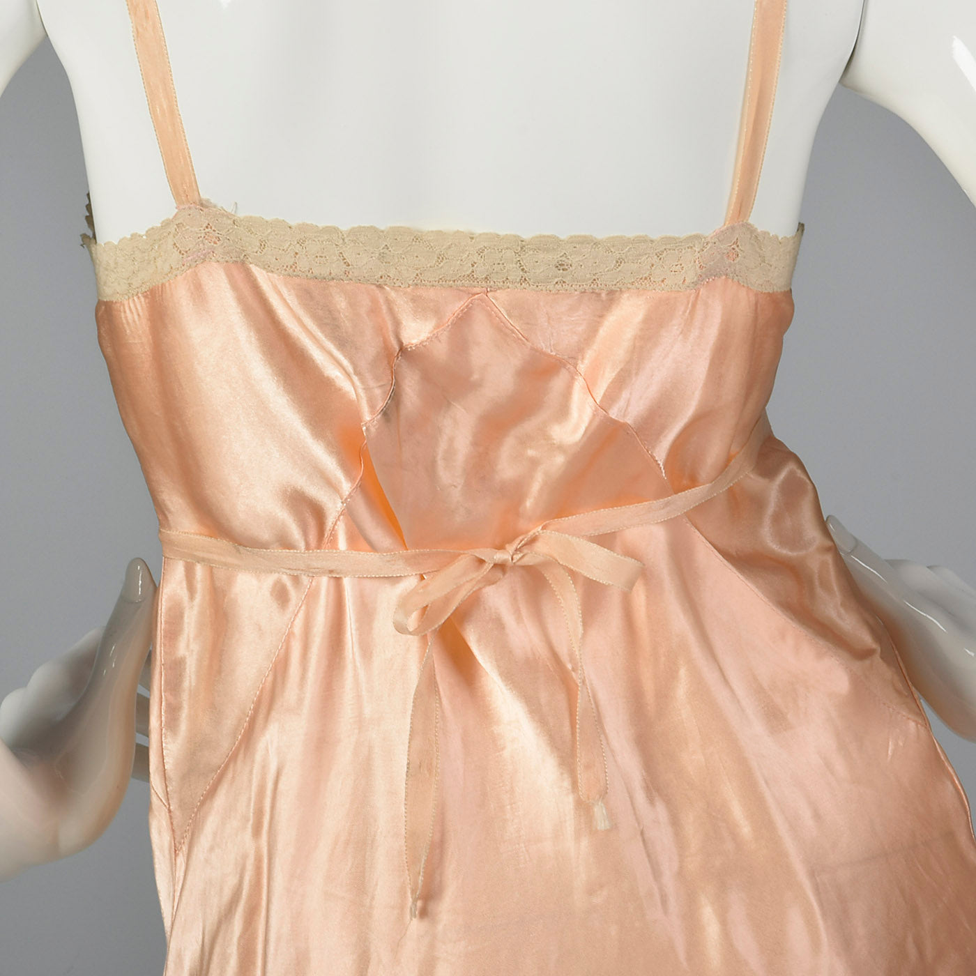 1930s Pink Slip with Wide Lace Trim