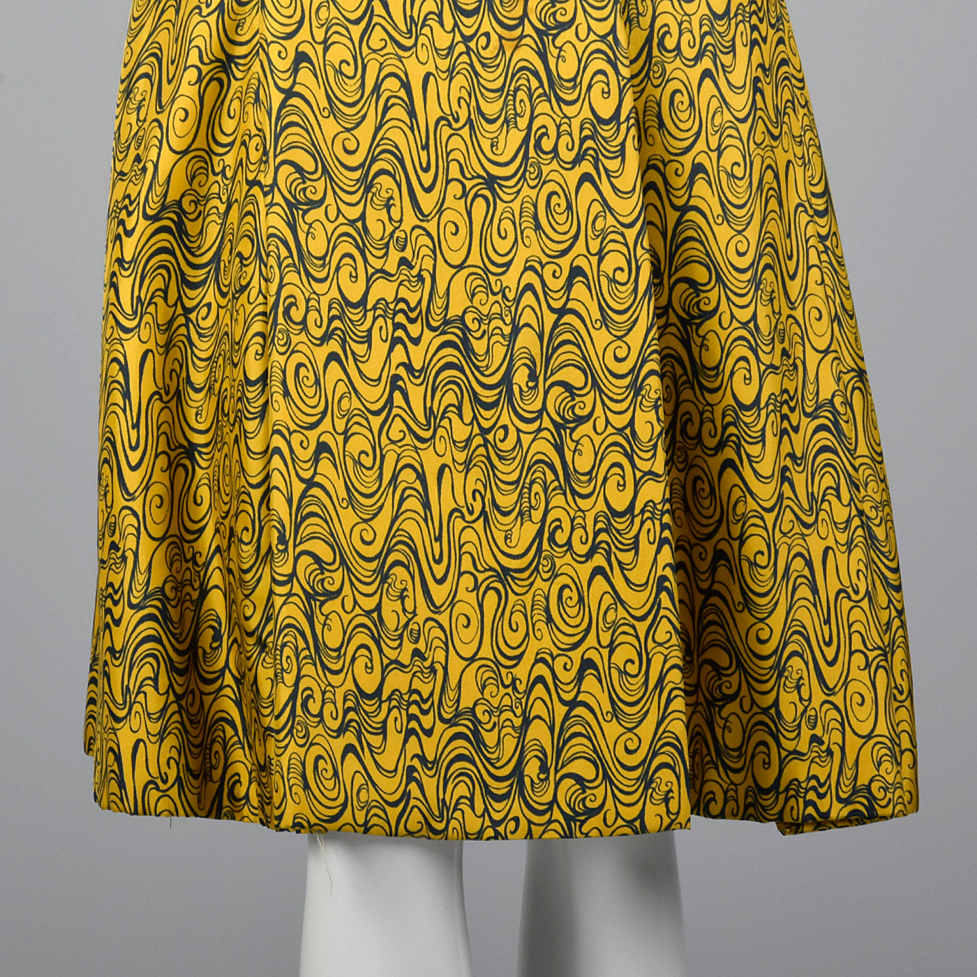 1960s Psychedelic Print Coat Dress