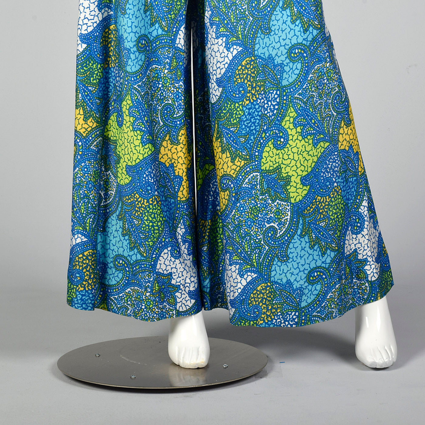 1960s Blue Palazzo Pants and Tunic Outfit