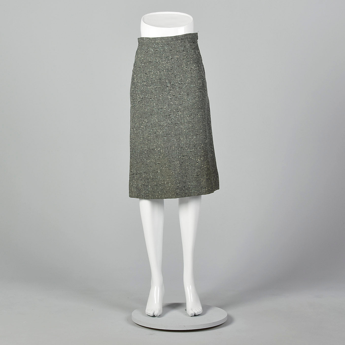 1950s Green Tweed Skirt